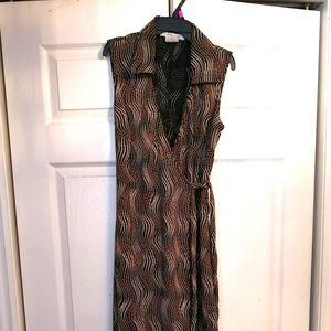 Retro style wrap dress